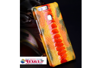 """Фирменная роскошная эксклюзивная накладка из натуральной КОЖИ С НОГИ СТРАУСА оранжевая  для Meizu M5 Note"""". Только в нашем магазине. Количество ограничено"""