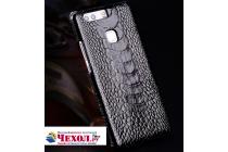 """Фирменная роскошная эксклюзивная накладка из натуральной КОЖИ С НОГИ СТРАУСА черная для Meizu M5 Note"""". Только в нашем магазине. Количество ограничено"""