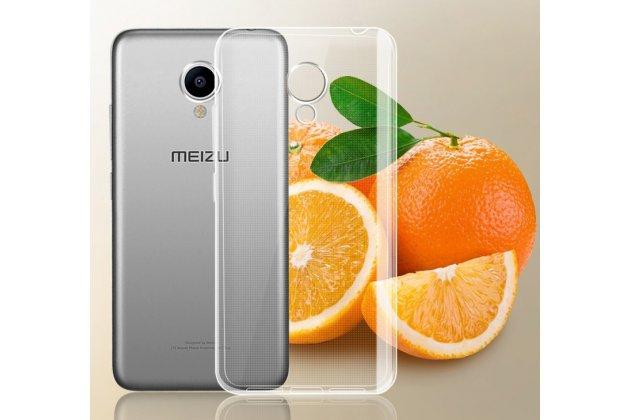 Фирменная ультра-тонкая полимерная из мягкого качественного силикона задняя панель-чехол-накладка для Meizu M5 (M611A) 5.2 прозрачная