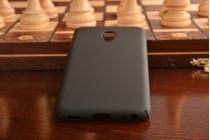 Фирменная задняя панель-крышка-накладка из тончайшего и прочного пластика для Meizu M5 (M611A) 5.2 черная