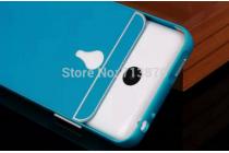 Фирменная металлическая задняя панель-крышка-накладка из тончайшего облегченного авиационного алюминия для Meizu MX4 Pro голубая