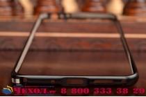 Фирменный оригинальный ультра-тонкий чехол-бампер для Meizu MX4 Pro черный металлический