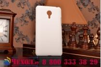 Фирменная задняя панель-крышка-накладка из тончайшего и прочного пластика для Meizu MX4 Pro  белая