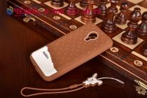 """Фирменная необычная уникальная полимерная мягкая задняя панель-чехол-накладка для Meizu MX4 Pro  """"тематика Андроид в тёмном Шоколаде"""""""