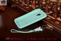"""Фирменная необычная уникальная полимерная мягкая задняя панель-чехол-накладка для Meizu MX4 Pro  """"тематика Андроид в мятном шоколаде"""""""