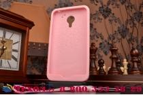 """Фирменная необычная уникальная полимерная мягкая задняя панель-чехол-накладка для Meizu MX4 """"тематика Андроид в клубничном шоколаде"""""""