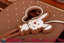 """Фирменная необычная уникальная полимерная мягкая задняя панель-чехол-накладка для Meizu MX4  """"тематика Андроид в тёмном Шоколаде"""""""