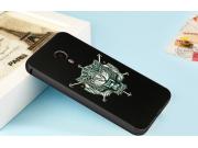 Фирменный ударопрочный усиленный чехол-бампер-накладка для Meizu MX4 черный металлический  тематика