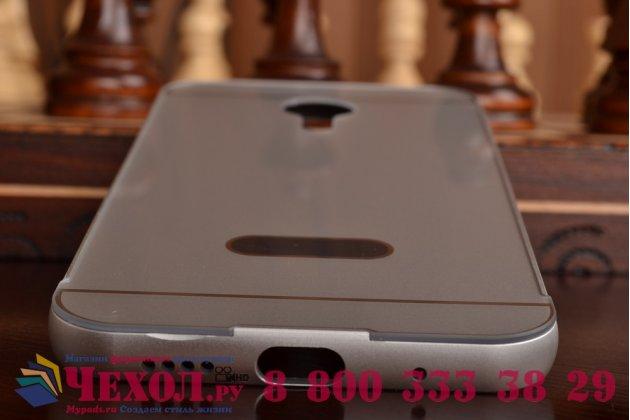 Фирменная металлическая задняя панель-крышка-накладка из тончайшего облегченного авиационного алюминия для Meizu MX5 серебристая
