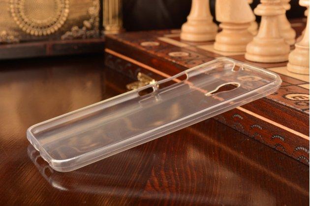 Фирменная задняя панель-крышка-накладка из ультра-тонкоо силикона для Meizu MX5 белая