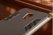 """Противоударный усиленный ударопрочный фирменный чехол-бампер-пенал для Meizu MX6 5.5"""" серый"""