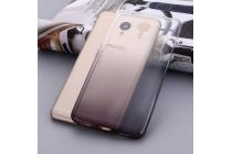 """Фирменная ультра-тонкая полимерная задняя панель-чехол-накладка из силикона для Meizu MX6 5.5""""  прозрачная  с эффектом грозы"""