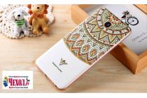"""Фирменная ультра-тонкая силиконовая задняя панель-крышка-накладка  для Meizu MX6 5.5""""  с 3D объёмным рисунком """"тематика Эклектические Узоры"""""""