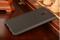 """Фирменная задняя панель-крышка-накладка из тончайшего и прочного пластика для Meizu MX6 5.5"""" черная"""