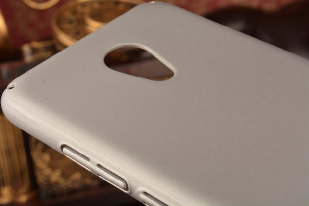"""Фирменная задняя панель-крышка-накладка из тончайшего и прочного пластика для Meizu M3/ M3 Metal/ M3S/ M3s Mini 5.0"""" (M688Q) серая"""