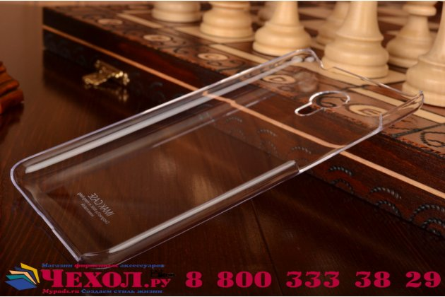 """Фирменная задняя панель-крышка-накладка из тончайшего и прочного пластика для Meizu Metal/ Meilan Metal /M57A/MA01 5.5"""" прозрачная"""