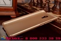 """Фирменная задняя панель-крышка-накладка из тончайшего и прочного пластика для Meizu Metal/ Meilan Metal /M57A/MA01 5.5"""" золотая"""