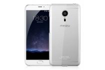 """Фирменная ультра-тонкая полимерная из мягкого качественного силикона задняя панель-чехол-накладка для Meizu Pro 5 5.7"""" белая"""