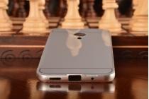 """Фирменная металлическая задняя панель-крышка-накладка из тончайшего облегченного авиационного алюминия для Meizu Pro 5 5.7"""" серебристая"""
