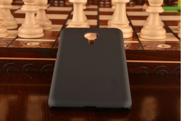 """Фирменная задняя панель-крышка-накладка из тончайшего и прочного пластика для Meizu Pro 5 5.7"""" черная"""