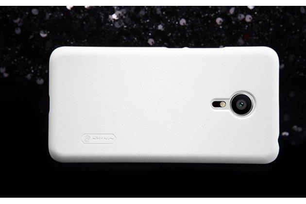 """Фирменная задняя панель-крышка-накладка из тончайшего и прочного пластика для Meizu Pro 5 5.7"""" белая"""