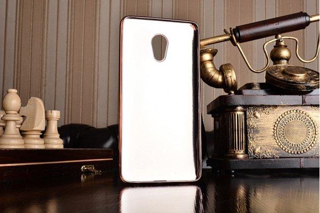 Фирменная роскошная элитная премиальная задняя панель-крышка на силиконовой основе с дизайном под кожу для Meizu Pro 6 Plus королевский красный