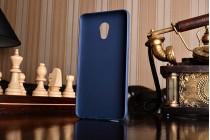 Фирменная ультра-тонкая полимерная из мягкого качественного силикона задняя панель-чехол-накладка для Meizu Pro 6 Plus синяя