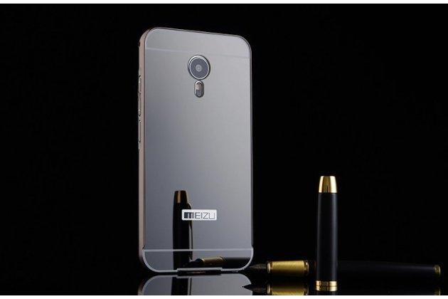 Фирменная металлическая задняя панель-крышка-накладка из тончайшего облегченного авиационного алюминия для Meizu Pro 6  черная