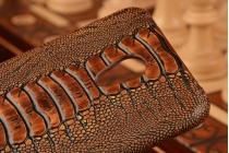 """Фирменная неповторимая экзотическая панель-крышка обтянутая кожей крокодила с фактурным тиснением для  Meizu Pro 6 5.2"""" . Только в нашем магазине. Количество ограничено."""