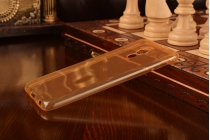 Фирменная ультра-тонкая полимерная из мягкого качественного силикона задняя панель-чехол-накладка для Meizu Pro 6 золотая
