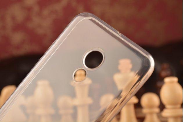 Фирменная ультра-тонкая полимерная из мягкого качественного силикона задняя панель-чехол-накладка для Meizu Pro 6 прозрачная