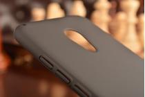 Фирменная задняя панель-крышка-накладка из тончайшего и прочного пластика для Meizu Pro 6 черная