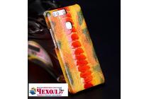 """Фирменная роскошная эксклюзивная накладка из натуральной КОЖИ С НОГИ СТРАУСА оранжевая  для Meizu Pro 6 5.2"""". Только в нашем магазине. Количество ограничено"""