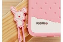 """Фирменная необычная уникальная полимерная мягкая задняя панель-чехол-накладка для Meizu Pro 6 """"тематика Андроид в клубничном шоколаде"""""""