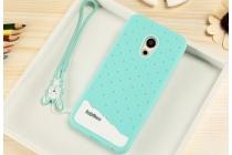 """Фирменная необычная уникальная полимерная мягкая задняя панель-чехол-накладка для Meizu Pro 6 """"тематика Андроид в Мятном  Шоколаде"""""""