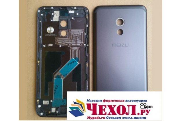 Родная оригинальная задняя крышка-панель которая шла в комплекте для Meizu Pro 6  черная