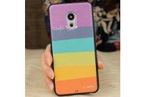 """Фирменная ультра-тонкая полимерная из мягкого качественного силикона задняя панель-чехол-накладка для Meizu Pro 6  тематика """"все цвета радуги"""""""