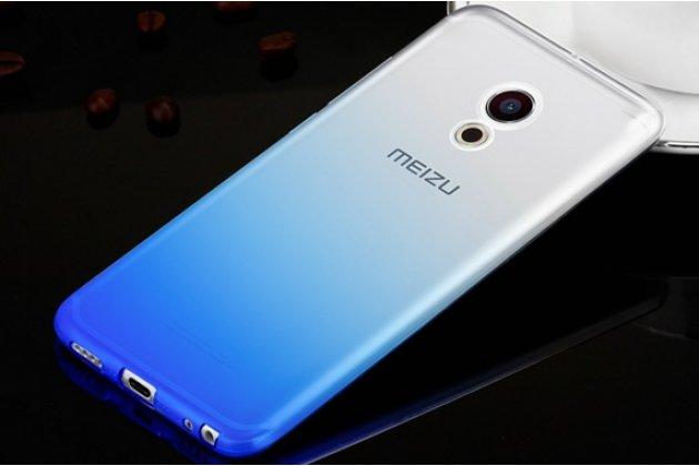 Фирменная ультра-тонкая полимерная задняя панель-чехол-накладка из силикона для Meizu Pro 6 прозрачная с эффектом дождя