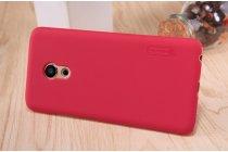Фирменная задняя панель-крышка-накладка из тончайшего и прочного пластика для Meizu Pro 6 красная