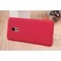 Фирменная задняя панель-крышка-накладка из тончайшего и прочного пластика для Meizu Pro 6 красная..