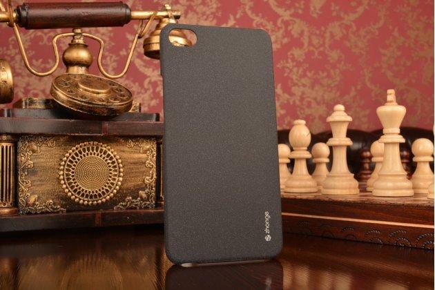 """Фирменная задняя панель-крышка-накладка из тончайшего и прочного пластика для Meizu U10 5.0"""" черная"""
