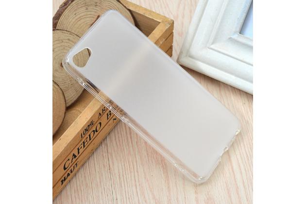 """Фирменная ультра-тонкая силиконовая задняя панель-чехол-накладка для Meizu U10 5.0"""" белая"""