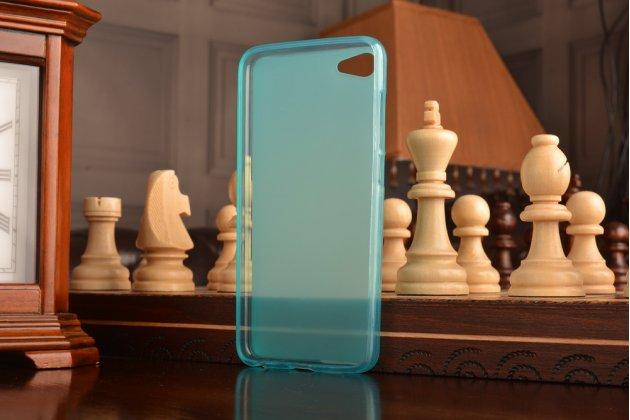 """Фирменная ультра-тонкая силиконовая задняя панель-чехол-накладка для Meizu U10 5.0"""" голубая"""