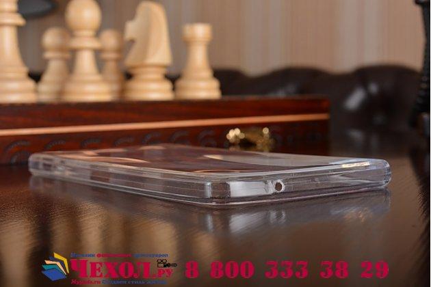 """Фирменная ультра-тонкая силиконовая задняя панель-чехол-накладка для Meizu U10 5.0"""" прозрачная"""