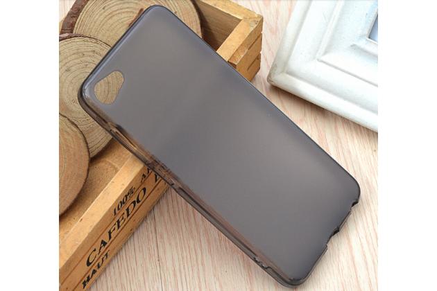 """Фирменная ультра-тонкая силиконовая задняя панель-чехол-накладка для Meizu U10 5.0"""" серая"""