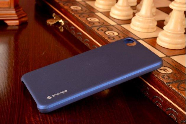 """Фирменная задняя панель-крышка-накладка из тончайшего и прочного пластика для Meizu U10 5.0""""  синяя"""