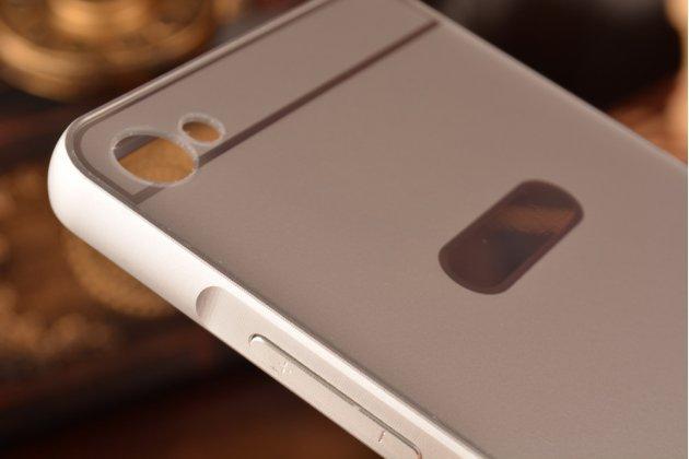 """Фирменная металлическая задняя панель-крышка-накладка из тончайшего облегченного авиационного алюминия для Meizu U20 5.5""""  серебрянная"""
