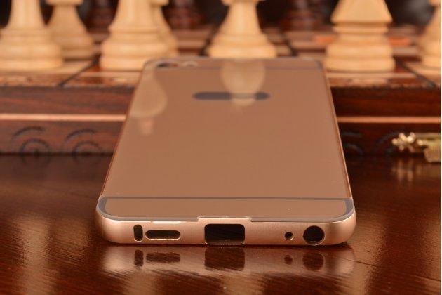 """Фирменная металлическая задняя панель-крышка-накладка из тончайшего облегченного авиационного алюминия для Meizu U20 5.5""""   золотая"""