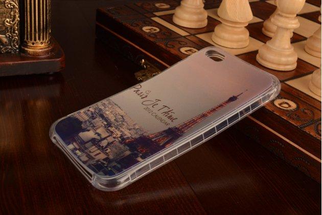 """Фирменная задняя панель-чехол-накладка из 3D силикона с объёмным рисунком для Meizu U20 5.5"""" """"тематика Париж"""""""