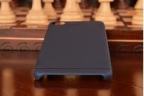 """Фирменная задняя панель-крышка-накладка из тончайшего и прочного пластика для Meizu U20 5.5""""  синяя"""